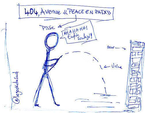 Pisse (peace) en paix