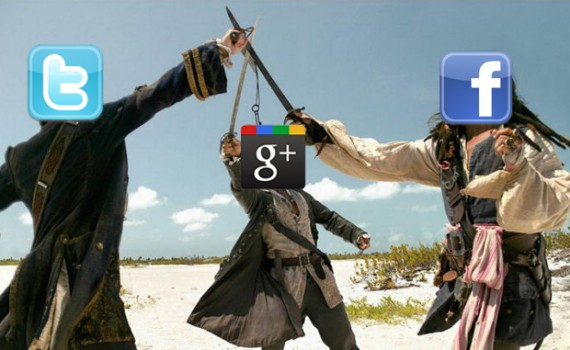 google-plus-facebook-twitter-battle
