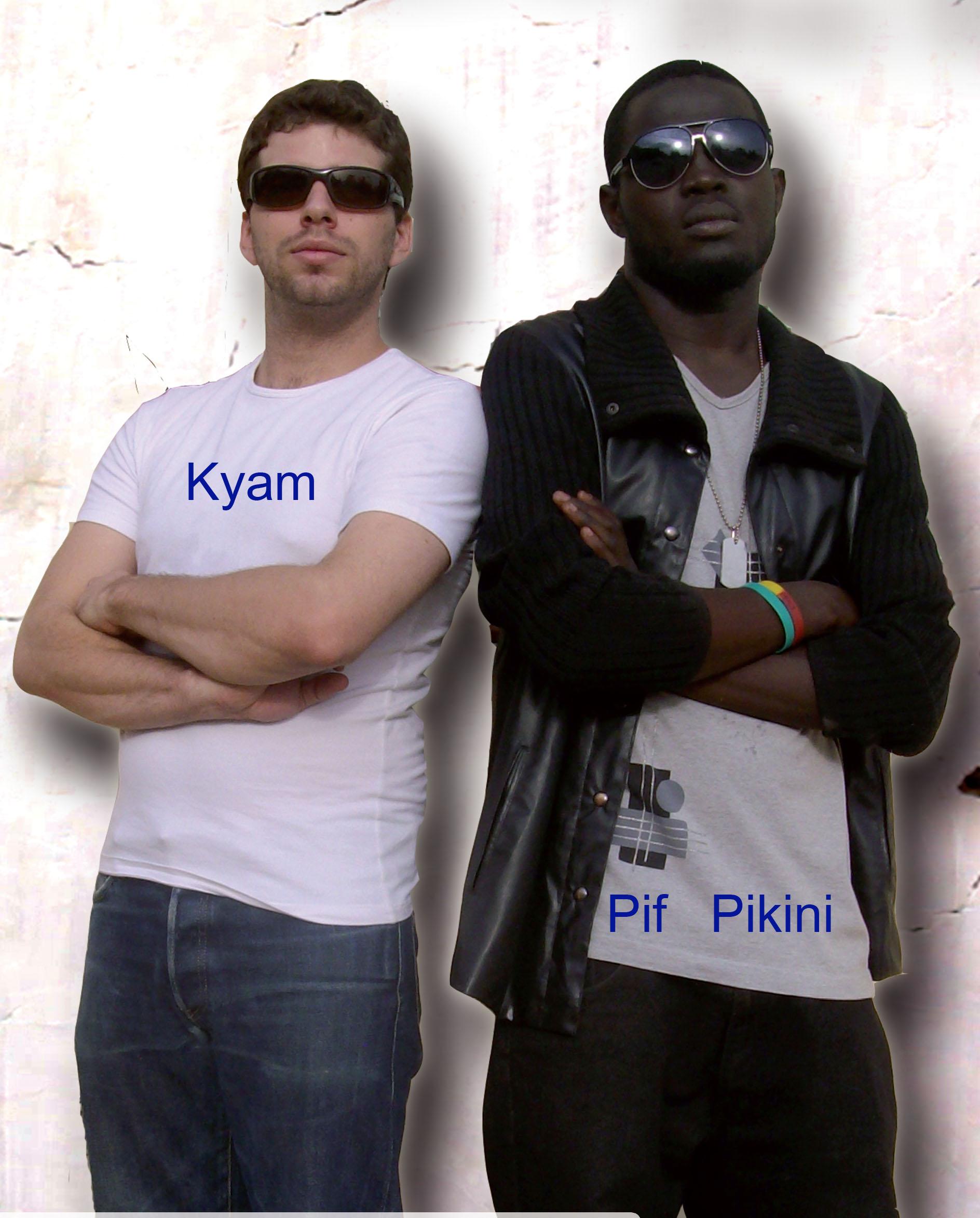 "PIF PIKINI et KYAM, image Press Book ""Homme du Monde""."