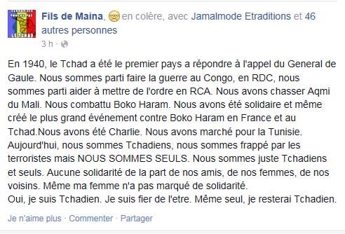 Colère d'Ibangolo Maïna face à la passivité des pays voisins et alliés du Tchad