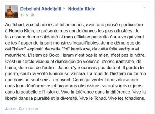 Compassion de Debellahi un blogueur mauritanien à sa consœur Rendodjo Moundona du Tchad.
