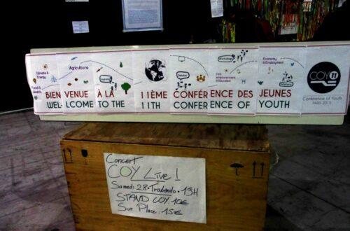 Article : #COY11 : plus d'une trentaine de jeunes Tchadiens étaient présents